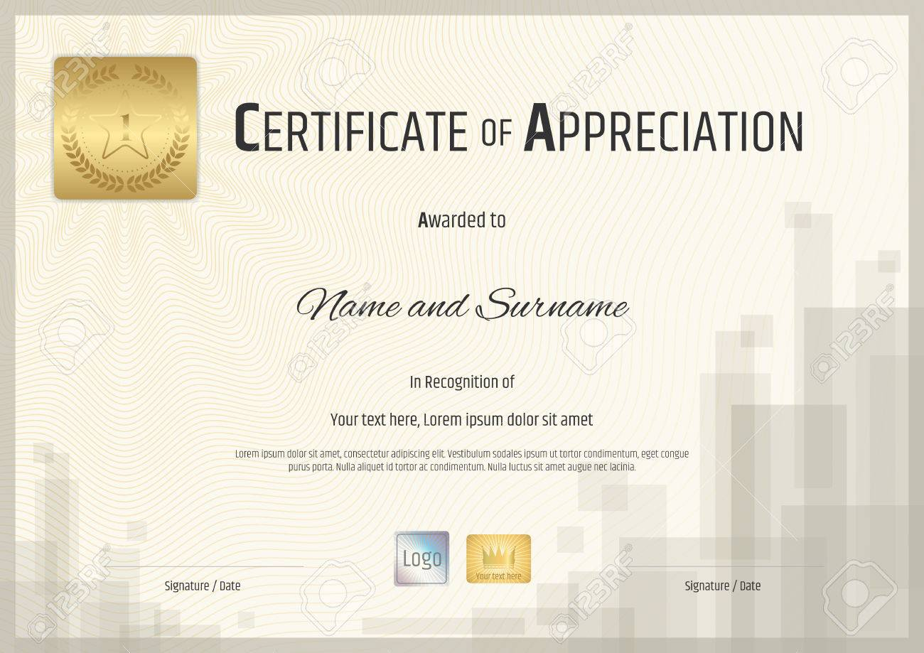 Certificate Of Achievement Template With Red Wax Seal In Vector ...