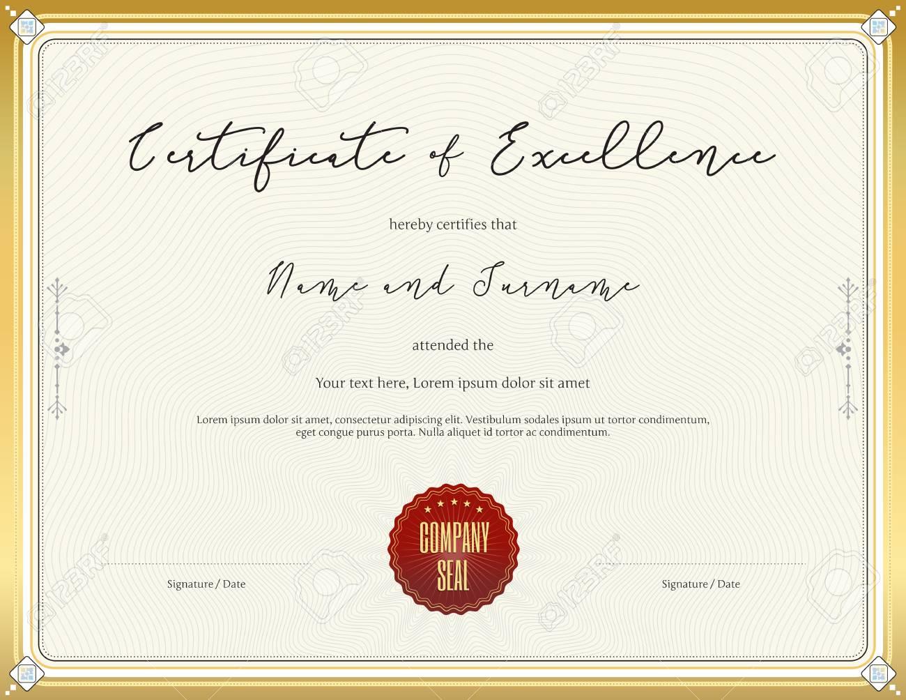 Asombroso Plantillas De Certificado De Logro Gratis Elaboración ...
