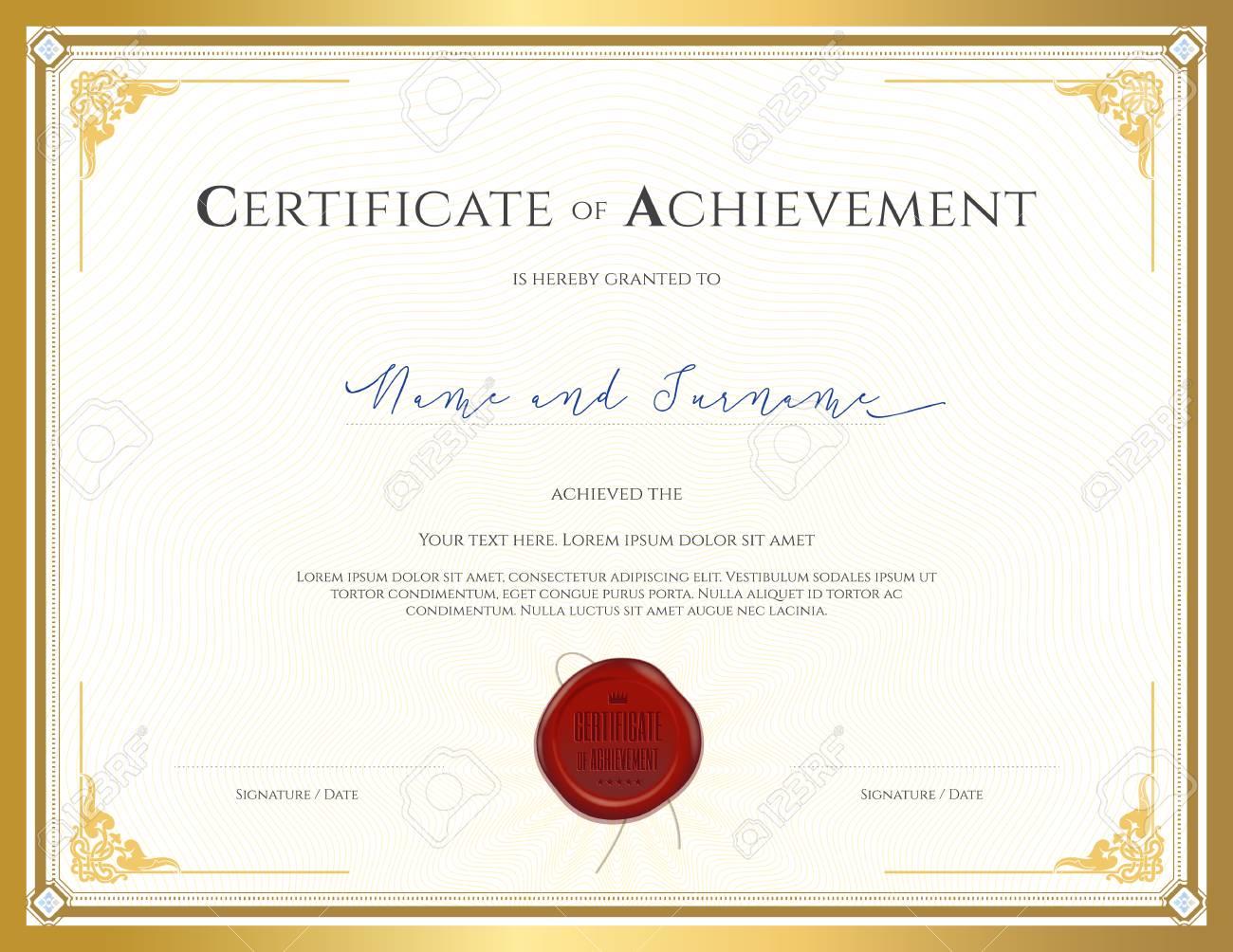 Zertifikatvorlage Für Die Leistung, Wertschätzung, Abschluss Oder ...