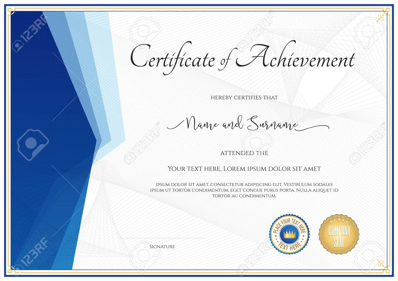 Modern certificate template for achievement appreciation modern certificate template for achievement appreciation participation or completion stock vector 63843849 alramifo Choice Image