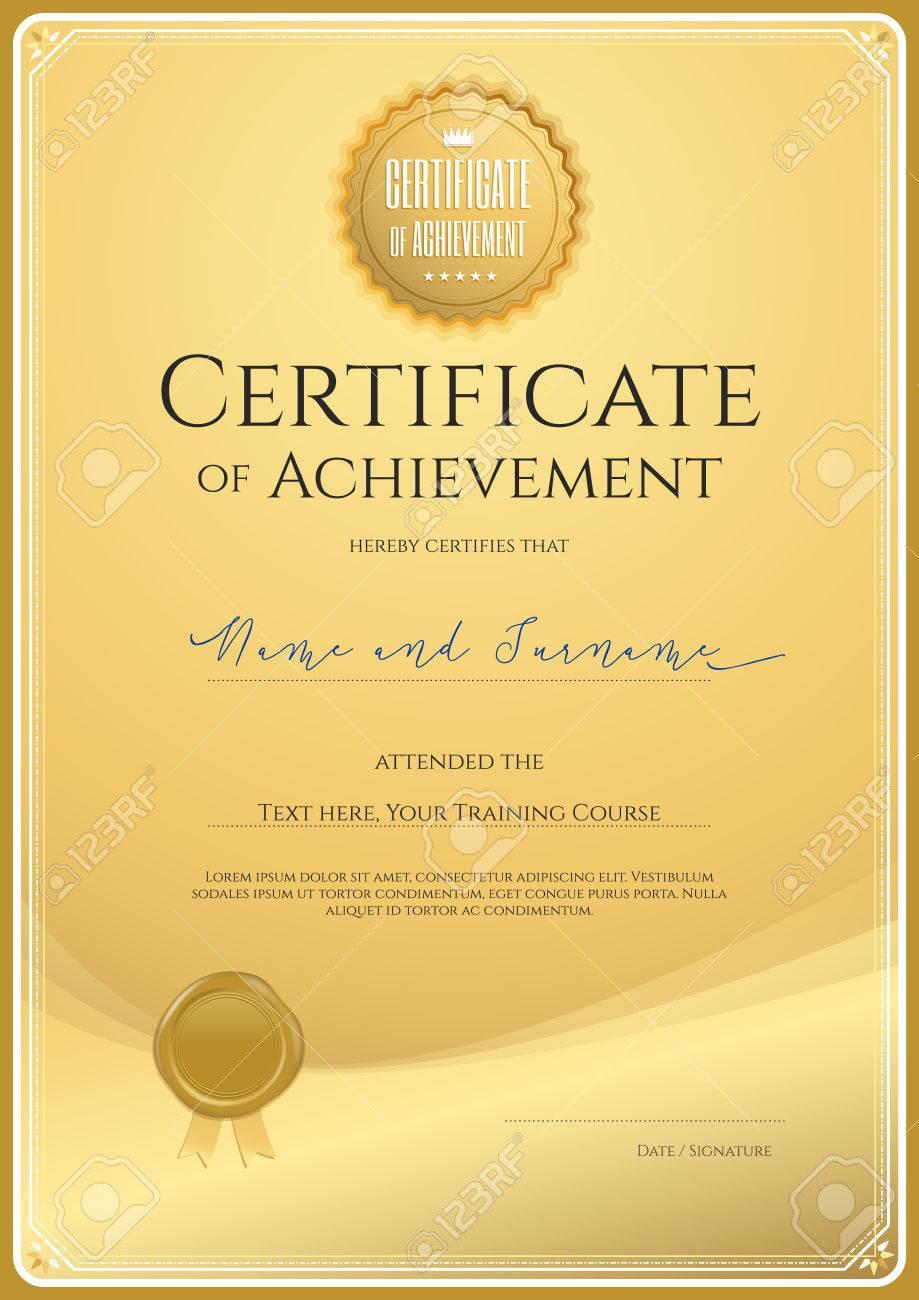 Plantilla De Certificado De Logro, Aprecio O La Terminación En El ...