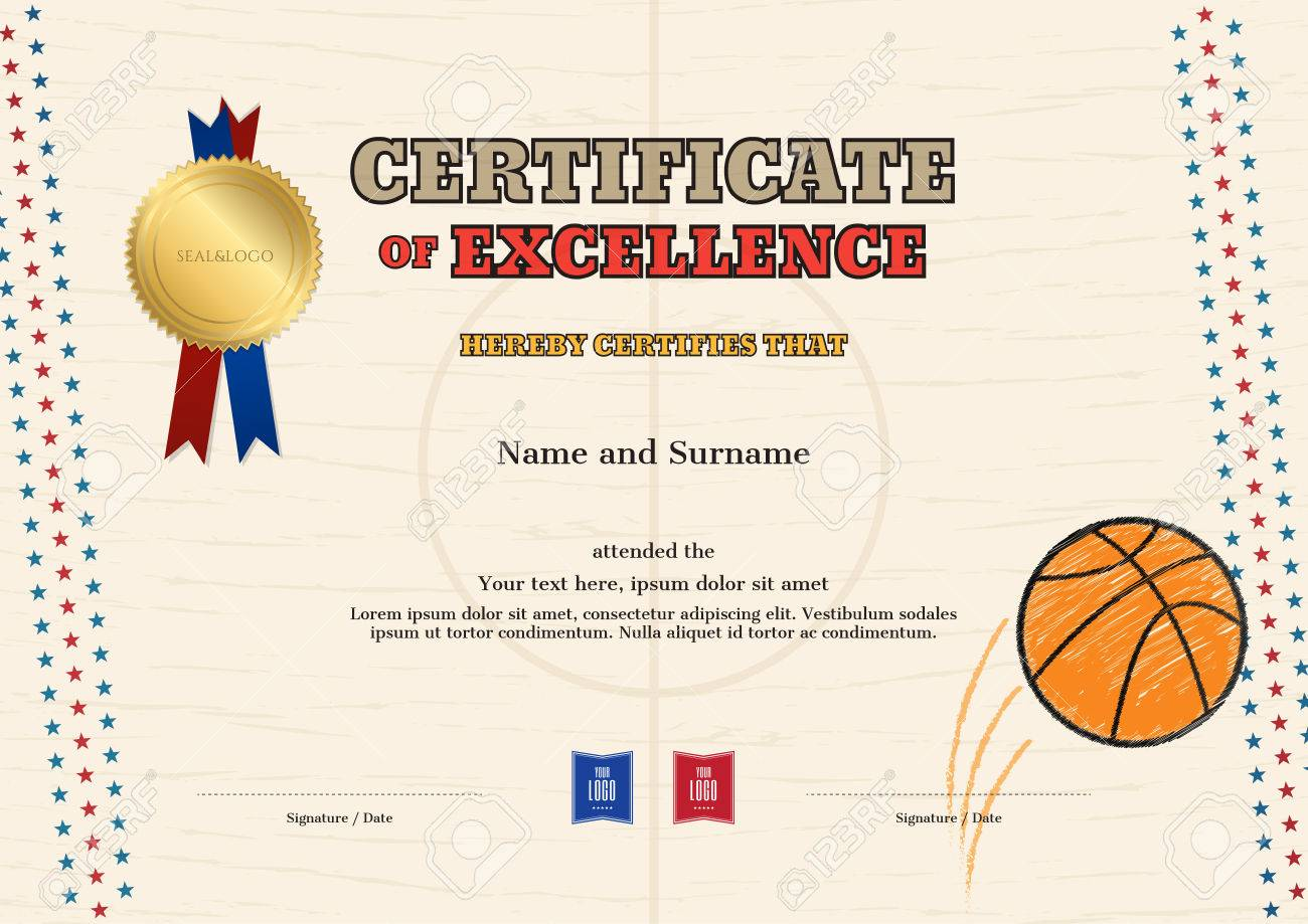 Fantastic Basketball Zertifikatvorlage Picture Collection ...