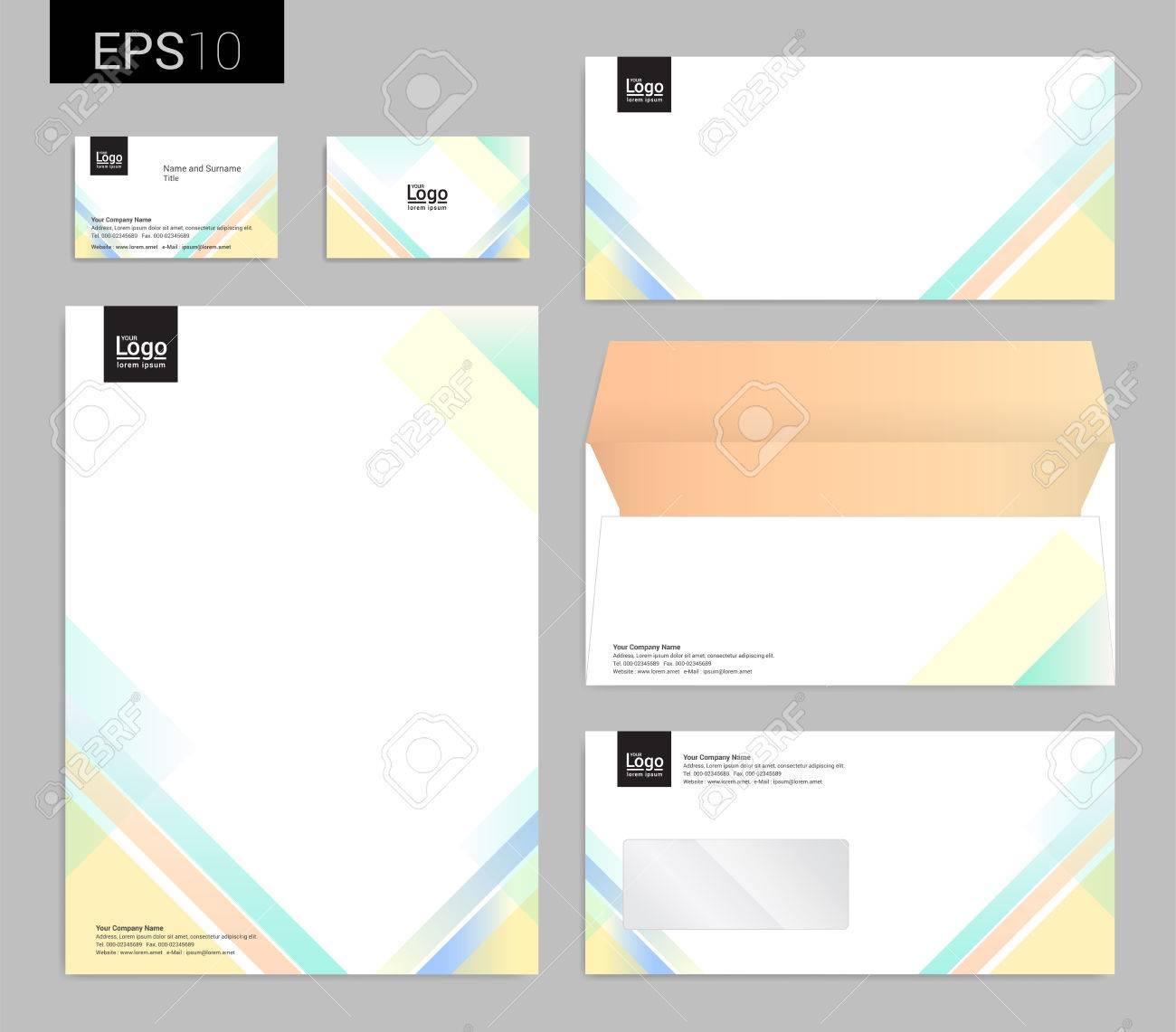Modern Stationery Set In Vector Format, Letterhead, Business ...
