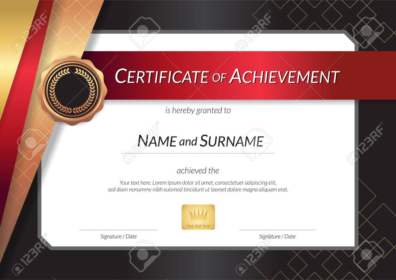 Luxus-Zertifikat-Vorlage Mit Elegantem Rahmenrahmen, Diplom-Design ...