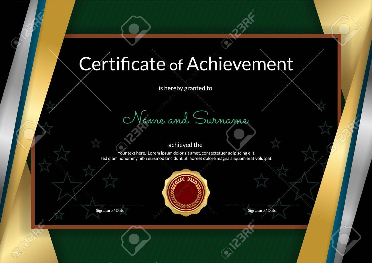 Luxus-Zertifikat-Vorlage Mit Eleganten Goldenen Rahmen Rahmen ...