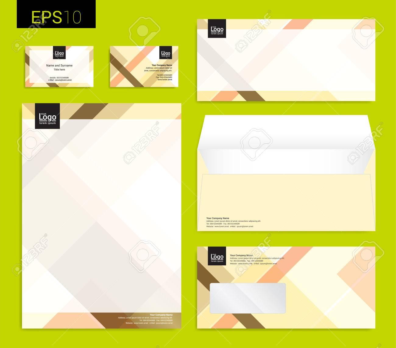 Papeterie Moderne Reglee En Format Vectoriel Papier A Tete