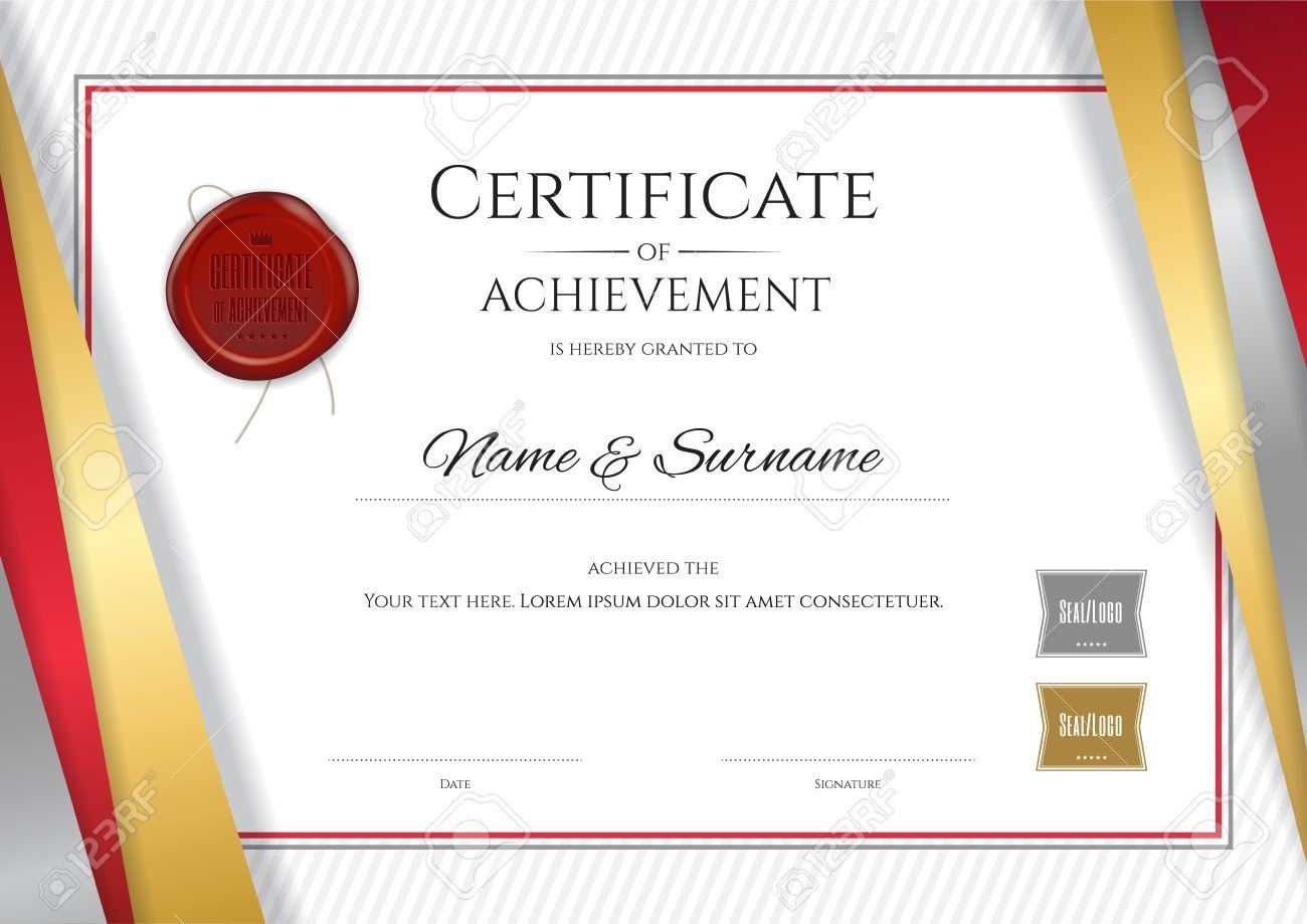 Luxus Zertifikat Vorlage Mit Eleganten Goldenen Rahmen Rahmen