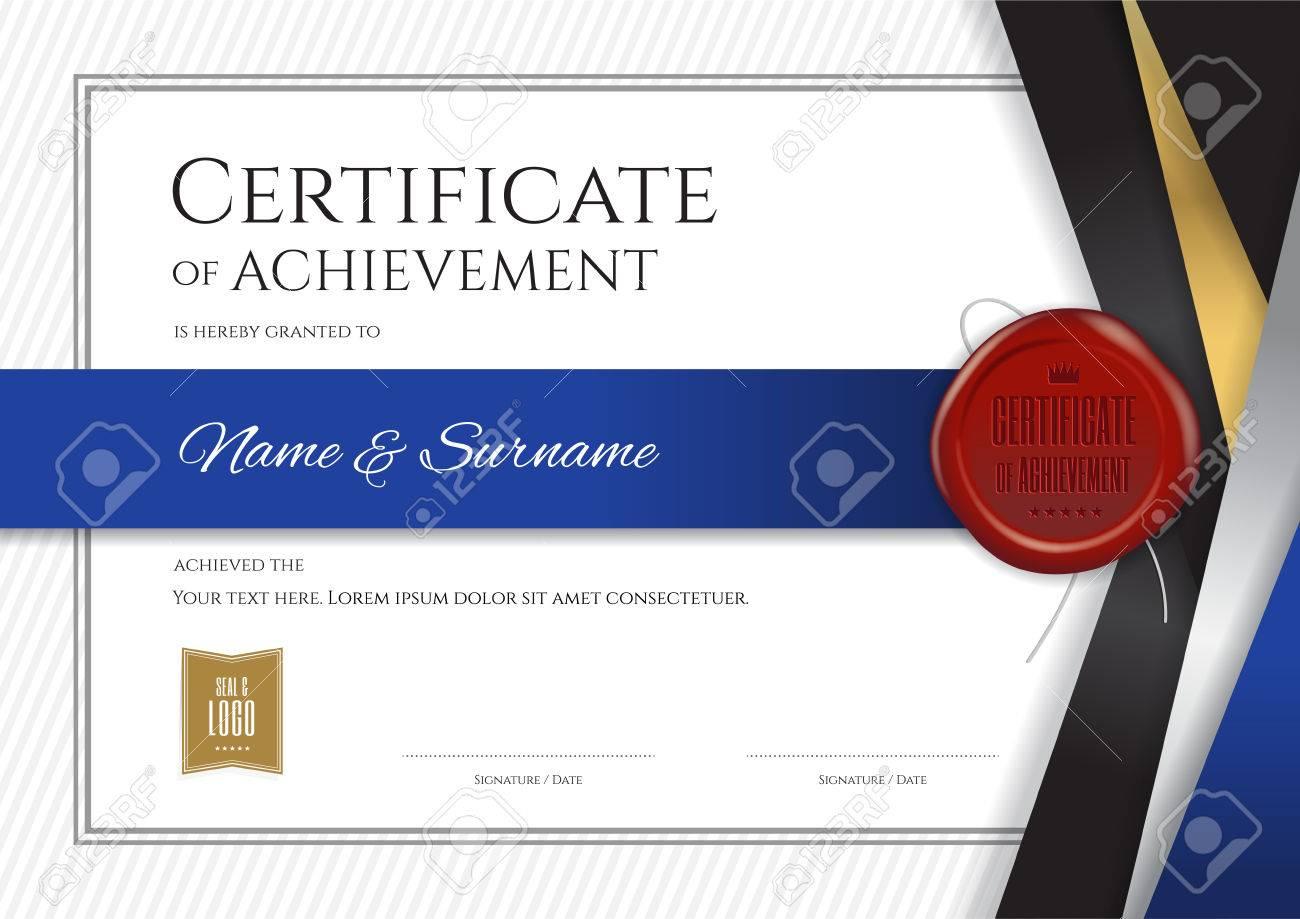 Plantilla De Certificado De Lujo Con Marco Elegante De La Frontera ...