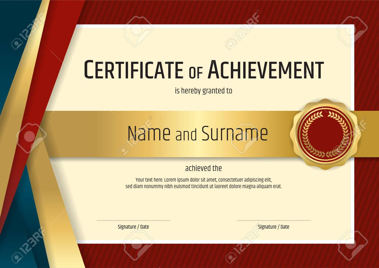 Luxury certificate template with elegant border frame, Diploma