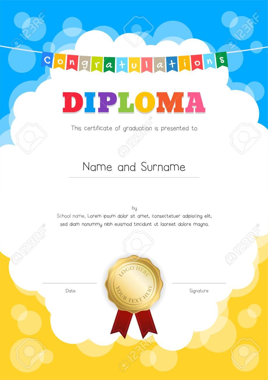 Retrato Niños Diploma O Certificado De La Plantilla De Awesomeness ...