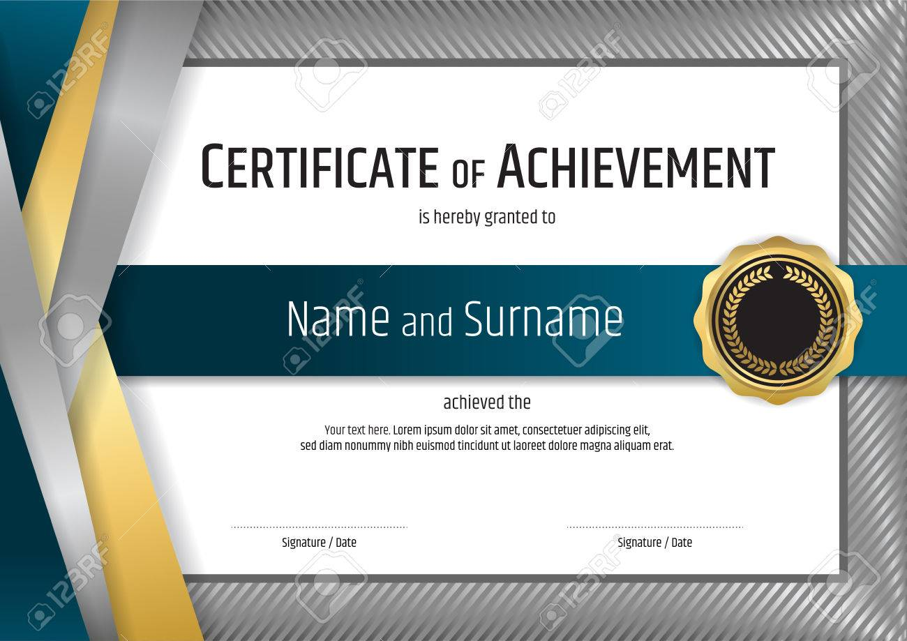 luxury certificate template with elegant silver border frame