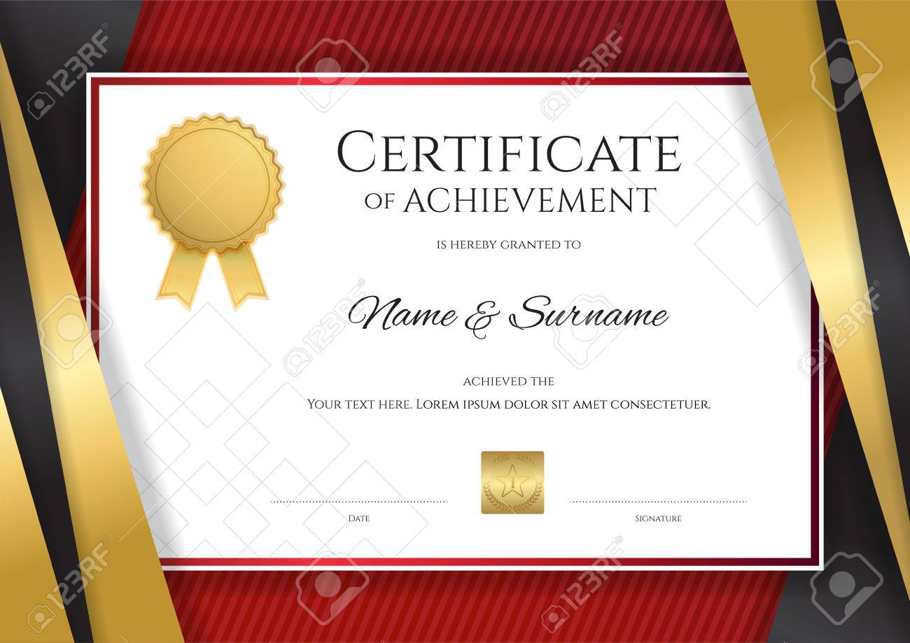Luxury certificate template with elegant golden border frame luxury certificate template with elegant golden border frame diploma design for graduation or completion stock yadclub Choice Image