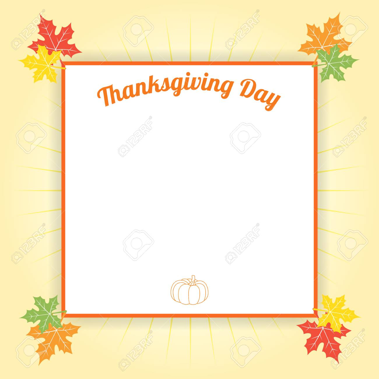happy thanksgiving day celebration background and border template