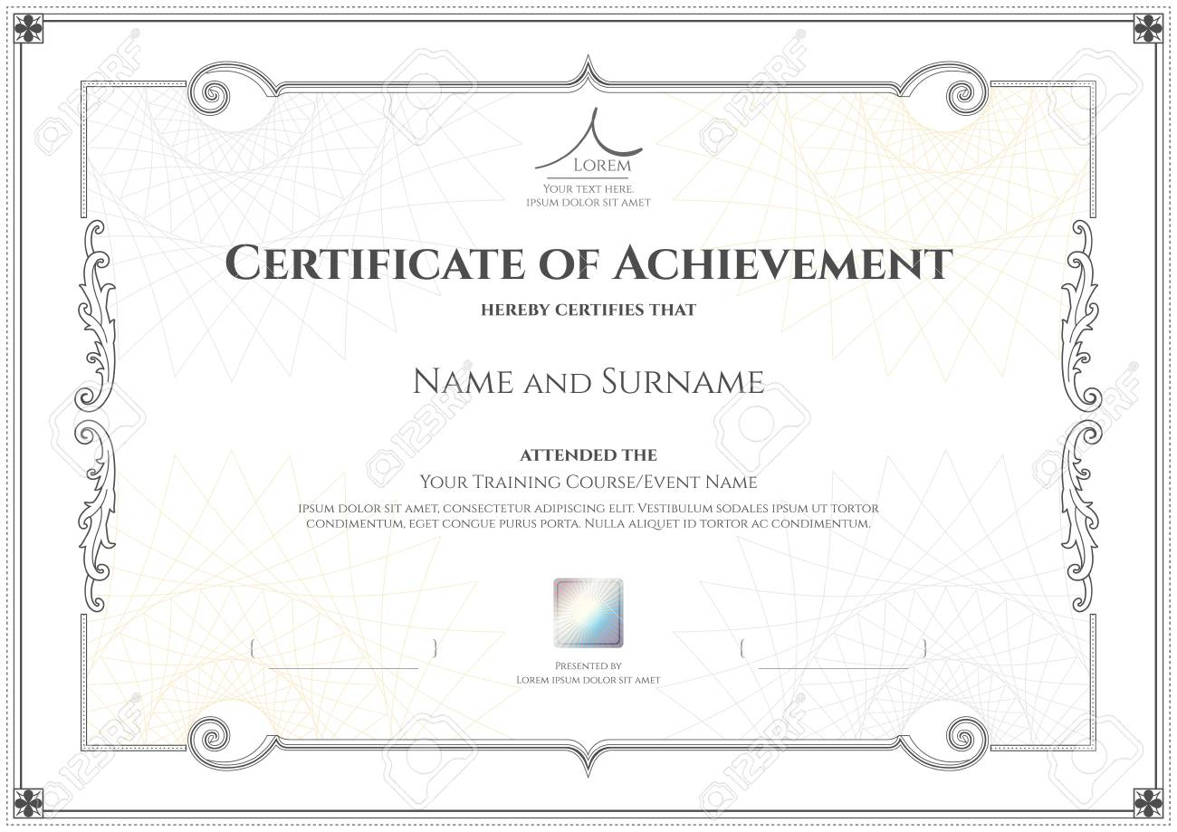 Luxury certificate template with elegant border frame diploma luxury certificate template with elegant border frame diploma design for graduation or completion banque d xflitez Gallery