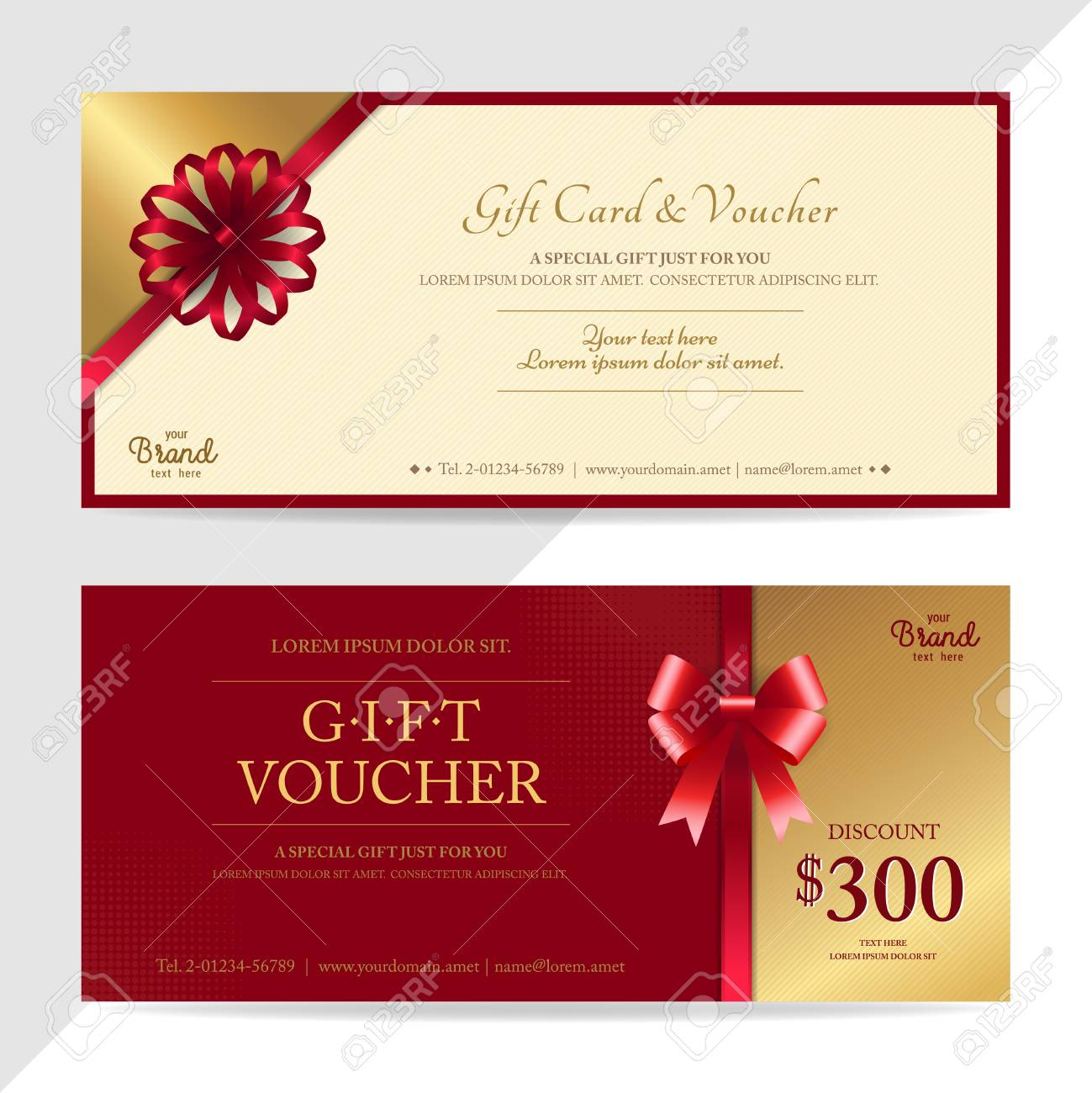 Gift Certificate, Voucher, Gift Card Or Cash Coupon Template ...