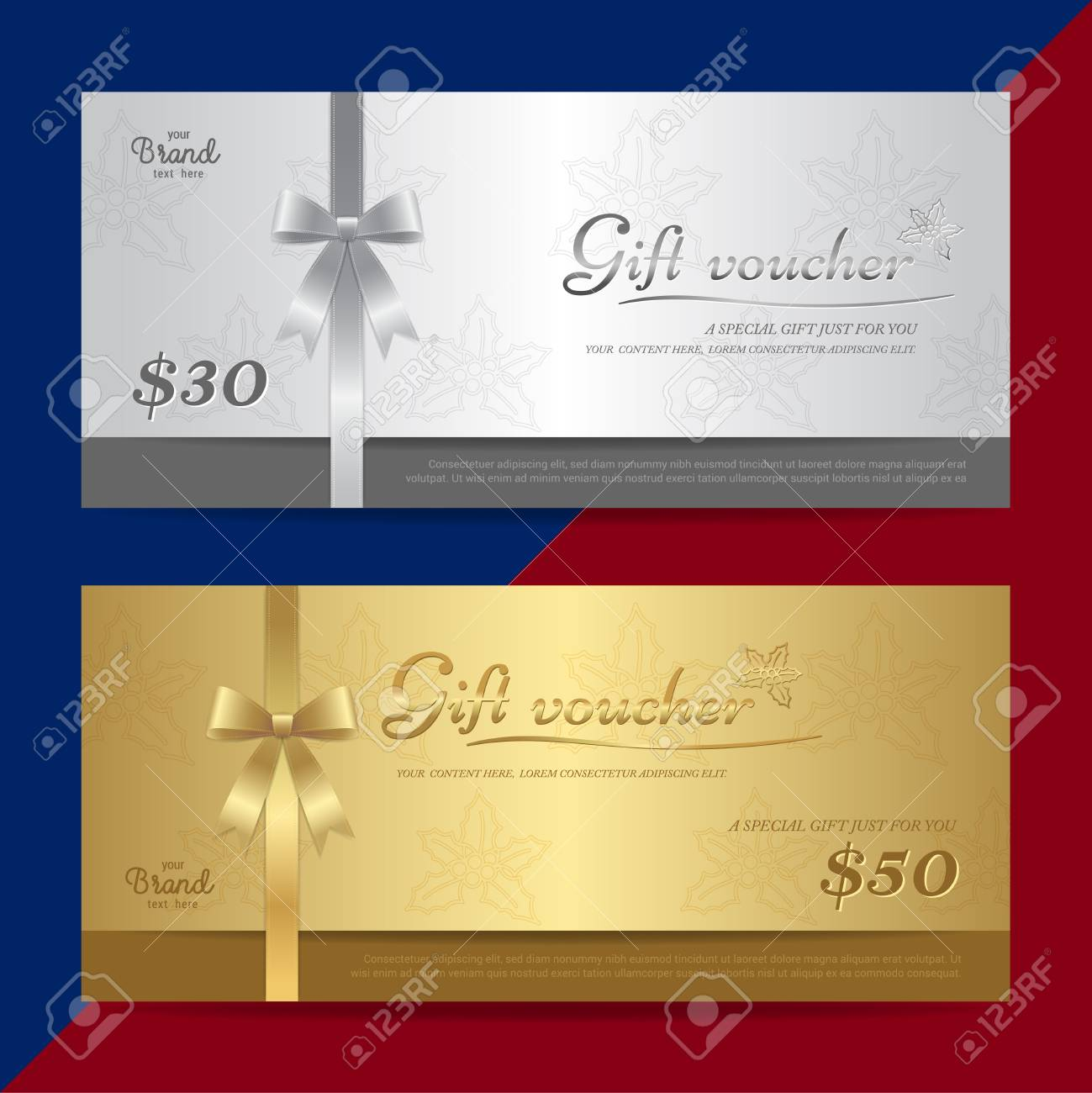 Gift Certificate Voucher Gift Card Or Cash Coupon Template Royalty Free Cliparts Vectors And Stock Illustration Image 93344624