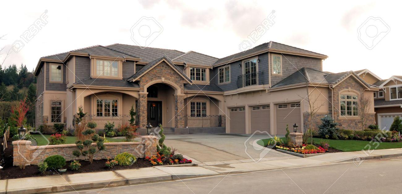Luxury homes exterior - Luxury Home Exterior Luxury Homes Stock Photo
