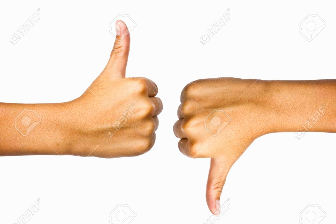 Thumb up and thumb down Stock Photo - 9829961