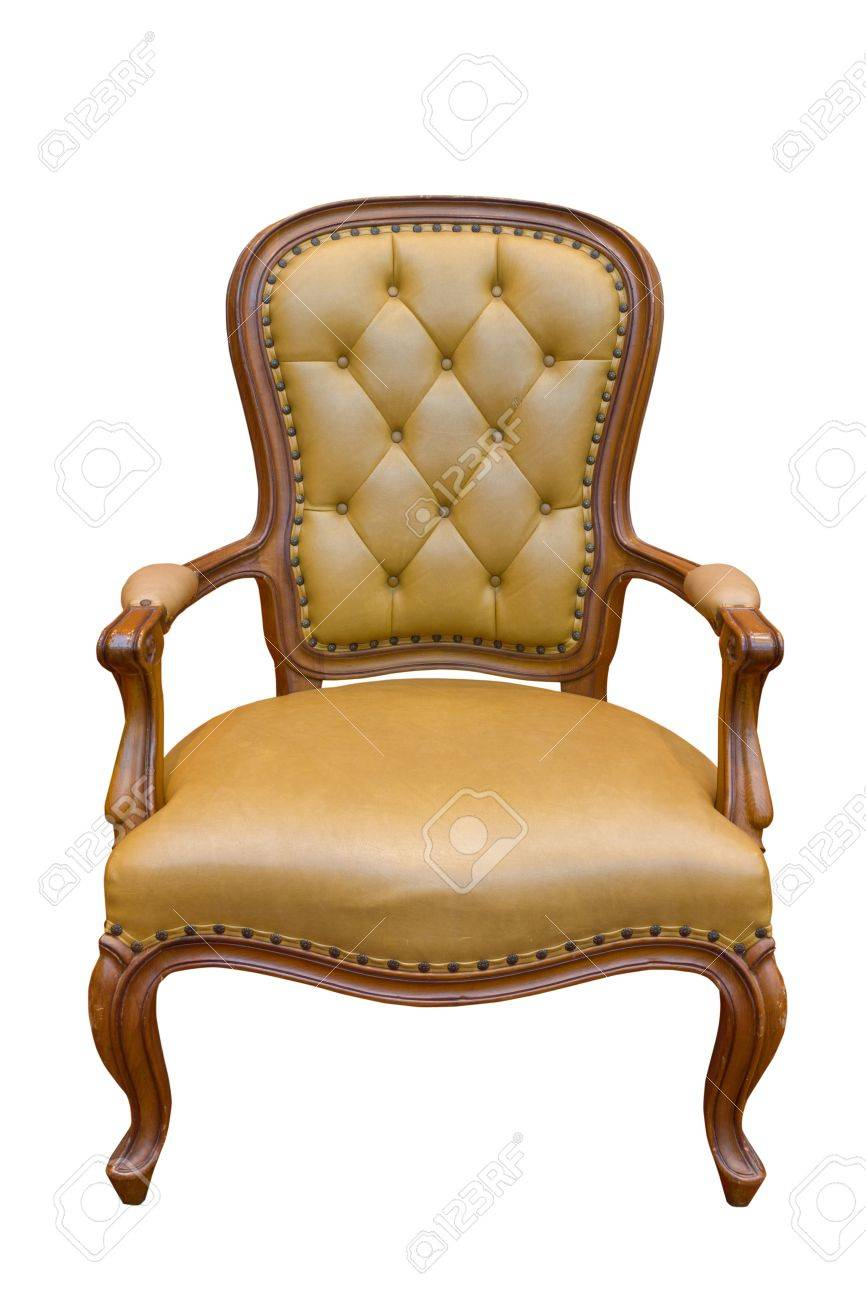 Brown luxury armchair isolated on the white background Stock Photo - 10866876