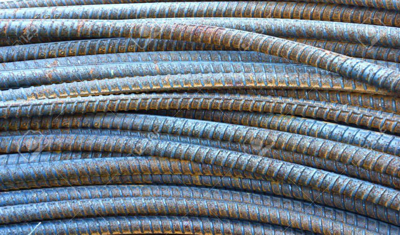 closed up of steel rods or bars used to reinforce concrete Stock Photo - 11738973
