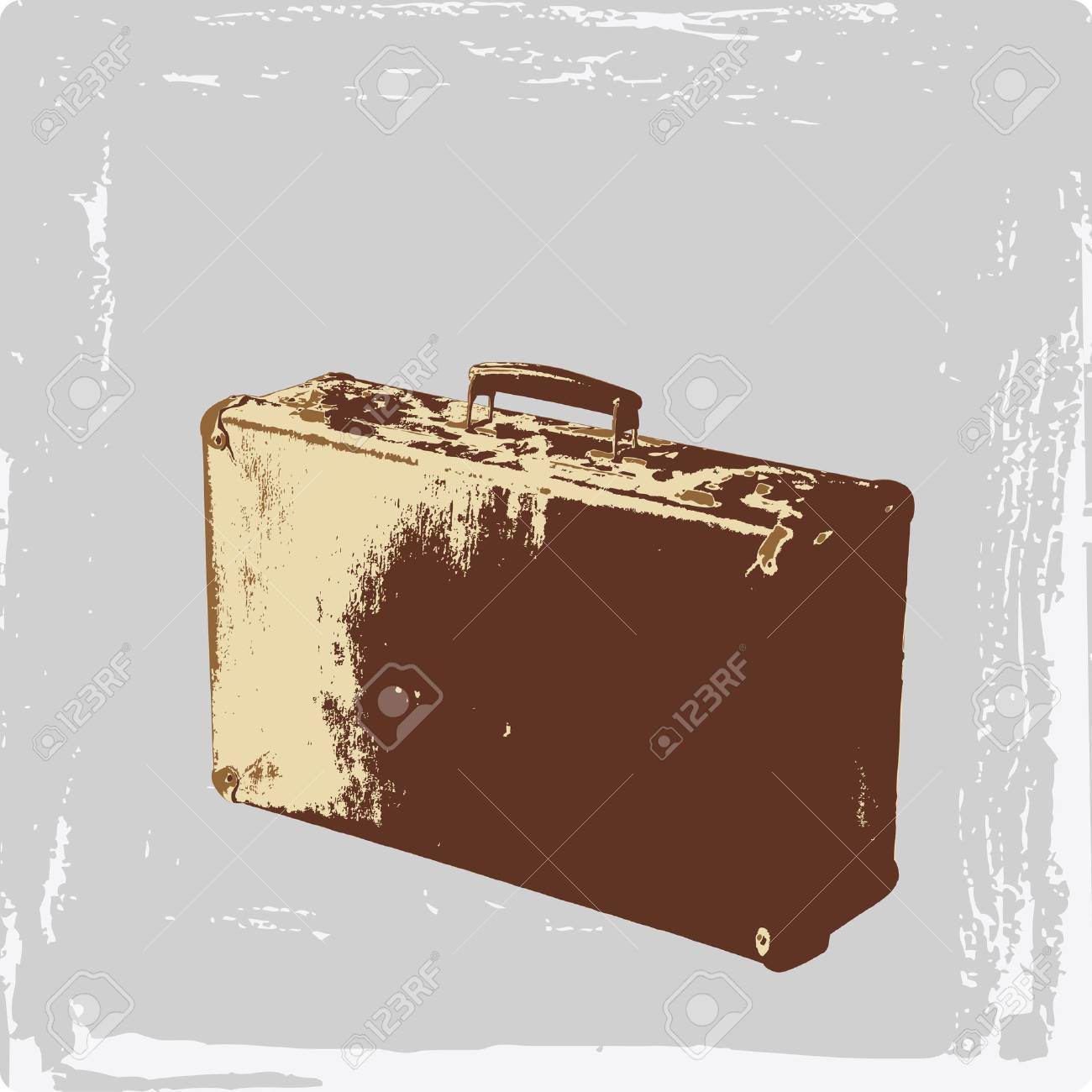 vintage suitcase Stock Vector - 6266559