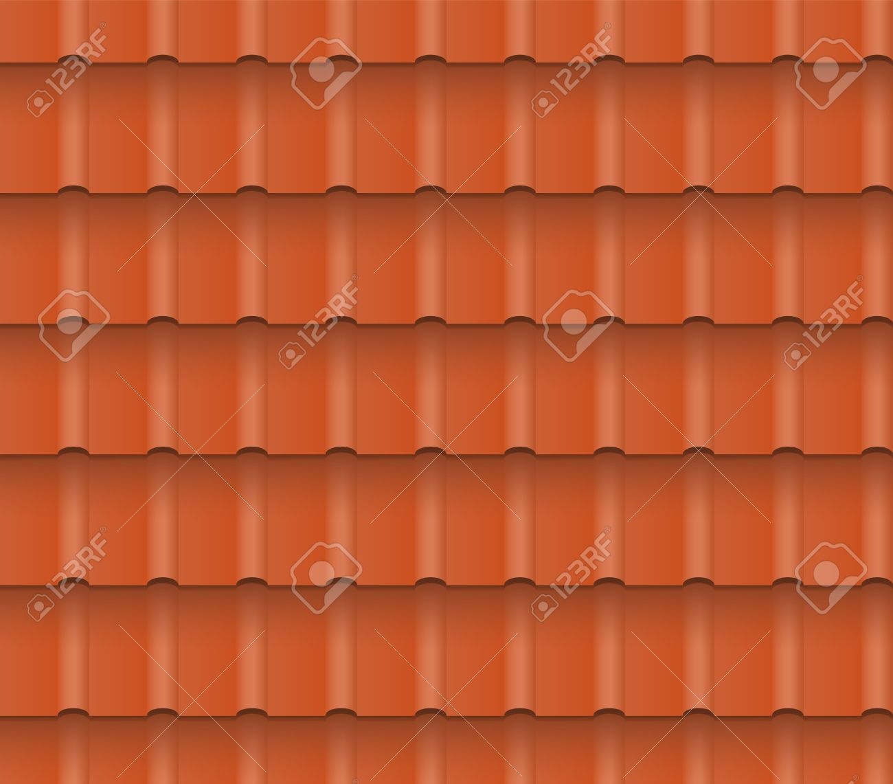 Metal Or Clay Roof Tiles For Roofing Houses. Seamless Pattern. EPS 10. Stock