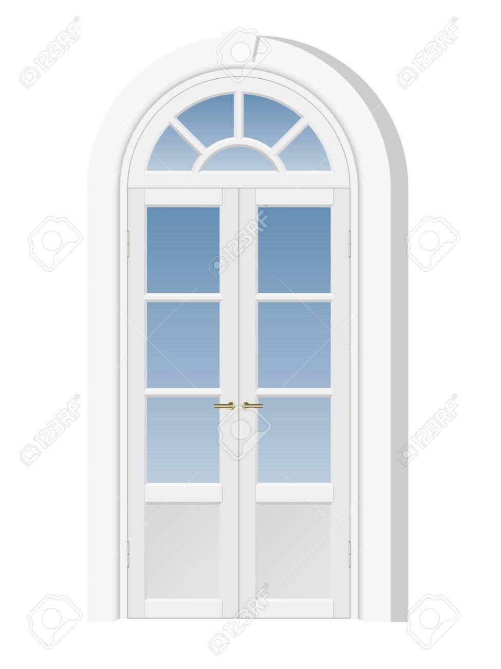 Weiße Tür Mit Oberlicht, Architekturelement Lizenzfrei Nutzbare ...