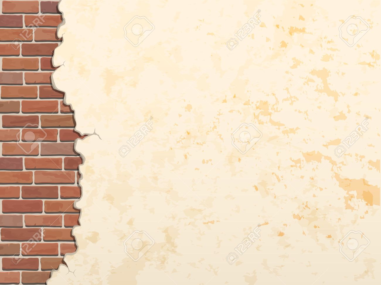 cracked concrete brick wall vintage  vector background Stock Vector - 36568549