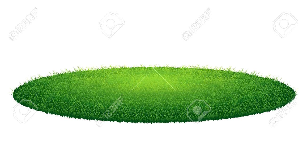 Green grass round arena. Vector illustration, isolated on white background Stock Vector - 51523021