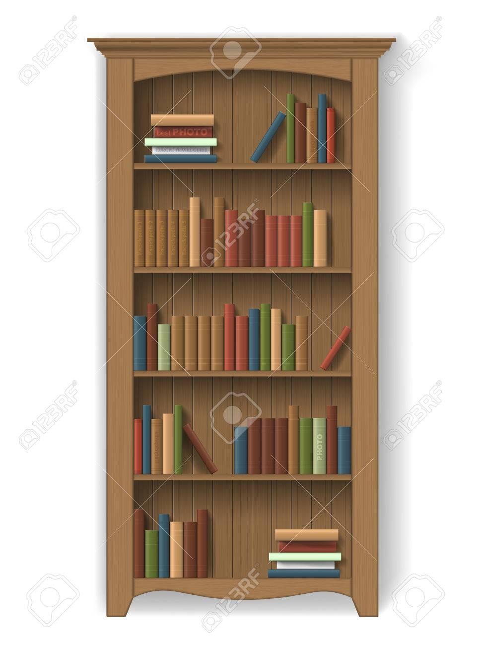 Estantera De Madera Con Libros En Las Estanteras Muebles Para