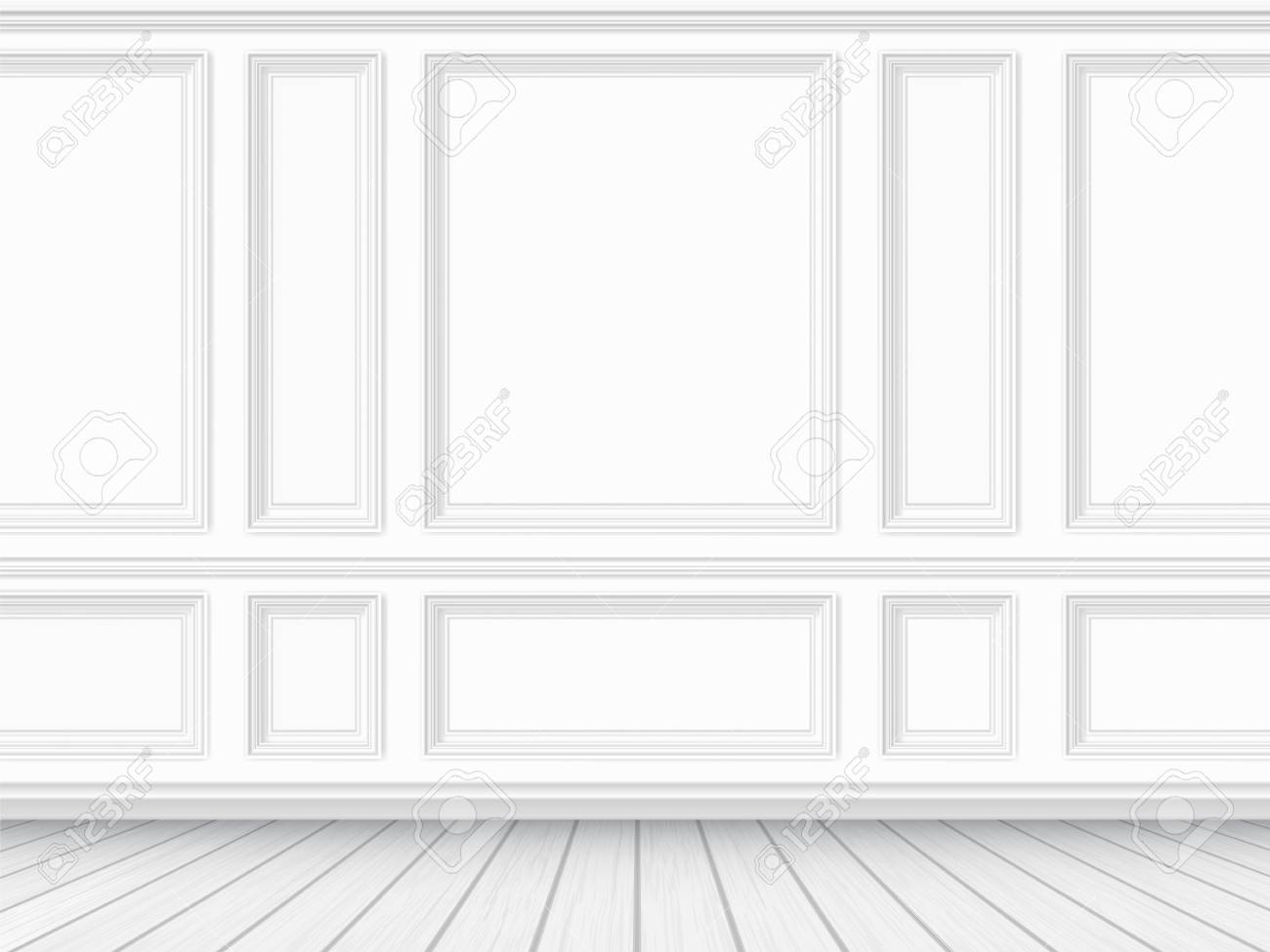 Fabulous Classic Interior Of The Living Room Parquet Floor And White Download Free Architecture Designs Scobabritishbridgeorg
