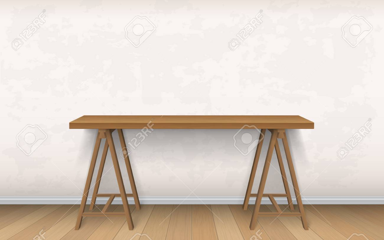 Interior Mockup Of Work Place Or Home Office Royalty Free Cliparts
