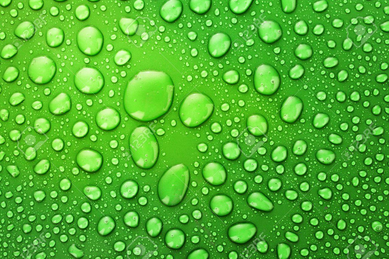 Water drops background with big and small drops Stock Photo - 6801487