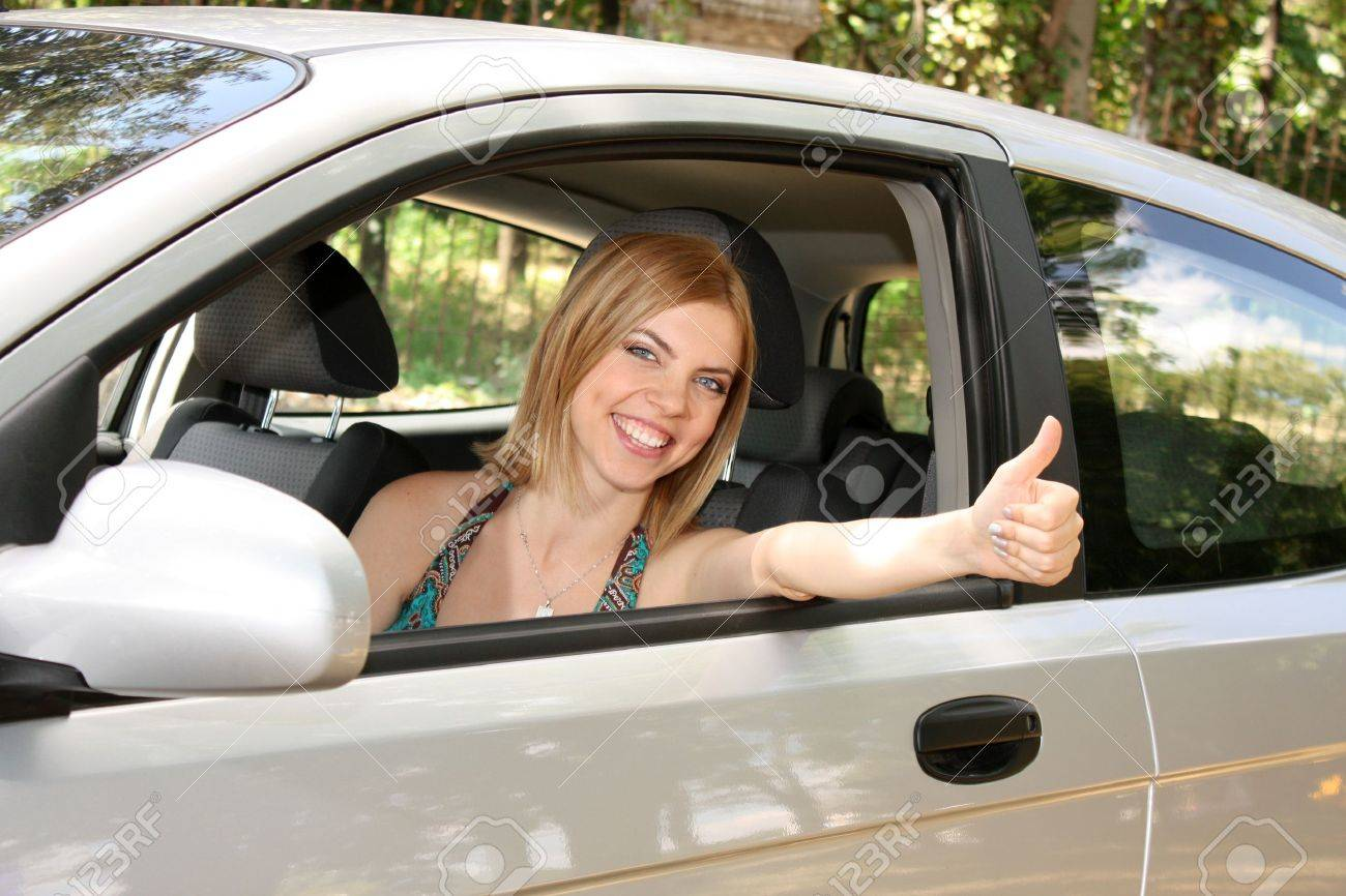 young woman with keys to new car Stock Photo - 7674877