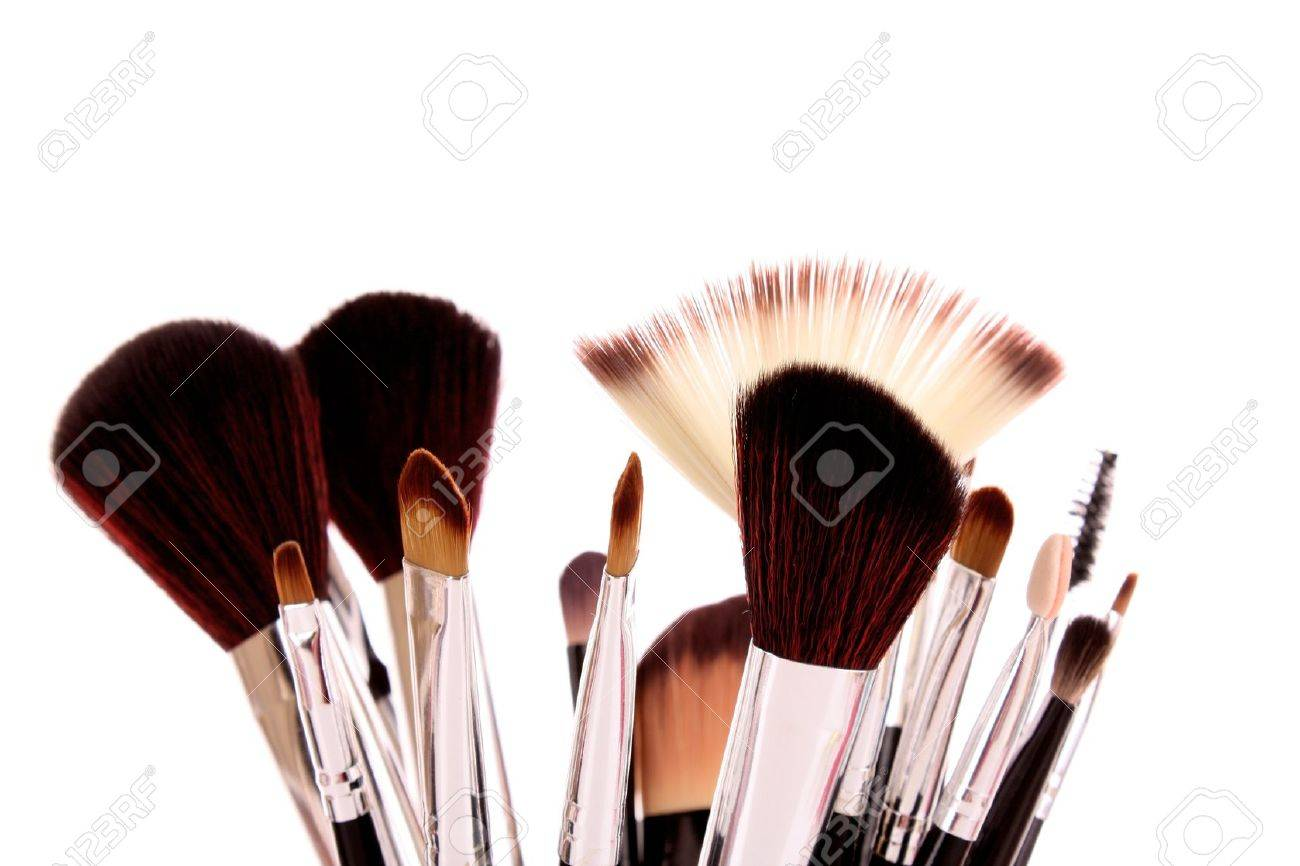 cosmetic brushes on white Stock Photo - 8721062