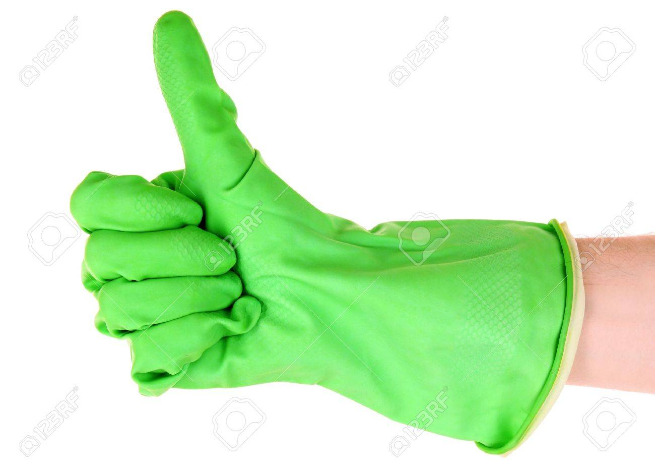 Lach poce vair  9211435-Thumbs-up-with-a-green-glove-on-white-Stock-Photo-glove-safety-rubber