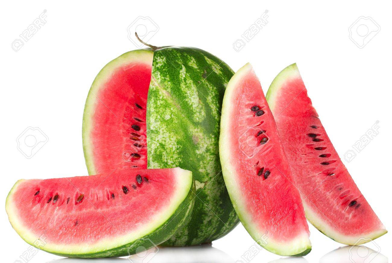 fresh watermelon isolated on white - 10119069