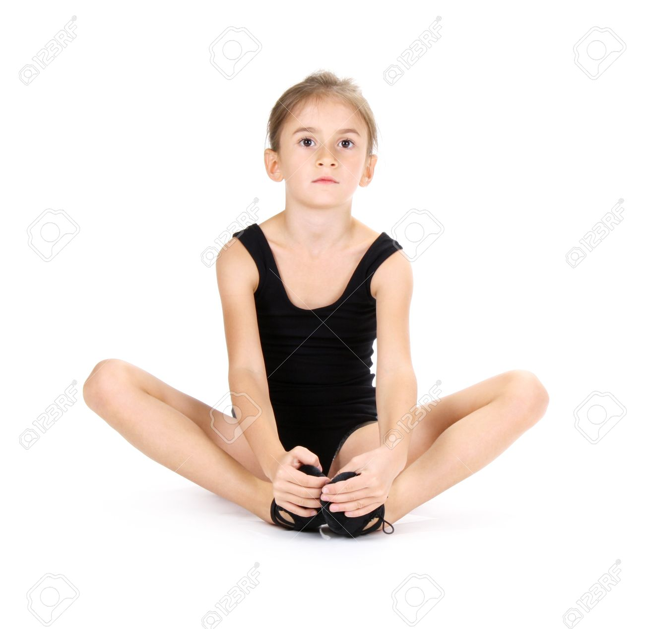 little girl ballerina isolated on white stock photo picture and