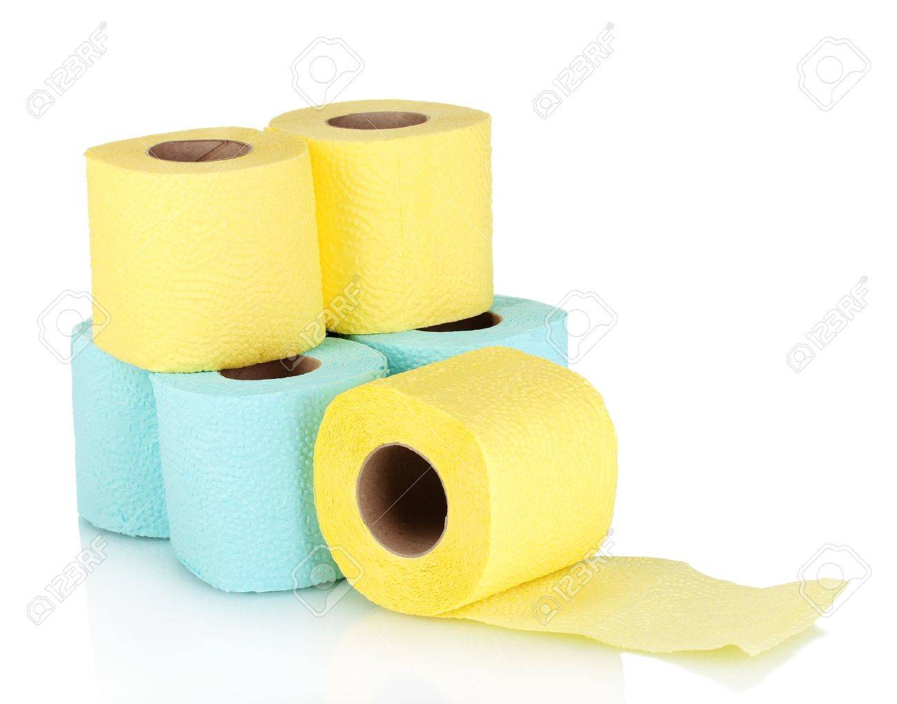 rolls of toilet paper isolated on white Stock Photo - 11088478