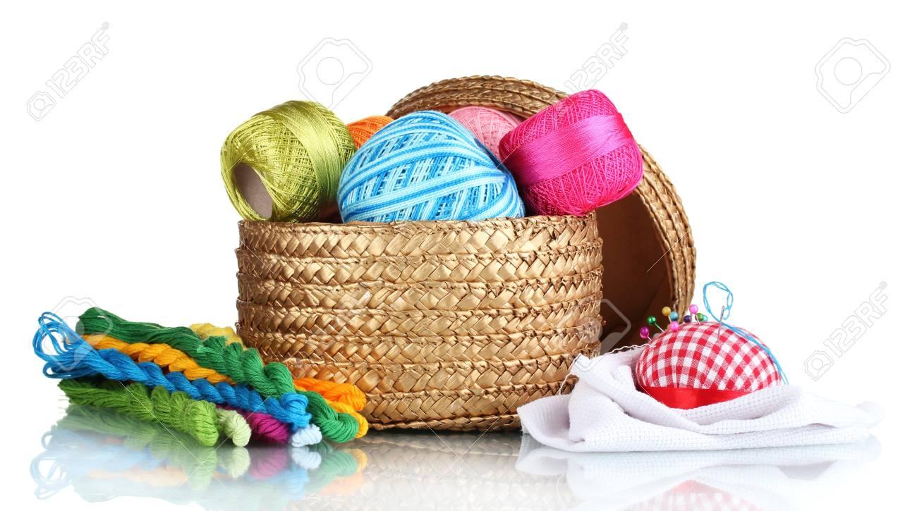 Basket for needlework 92