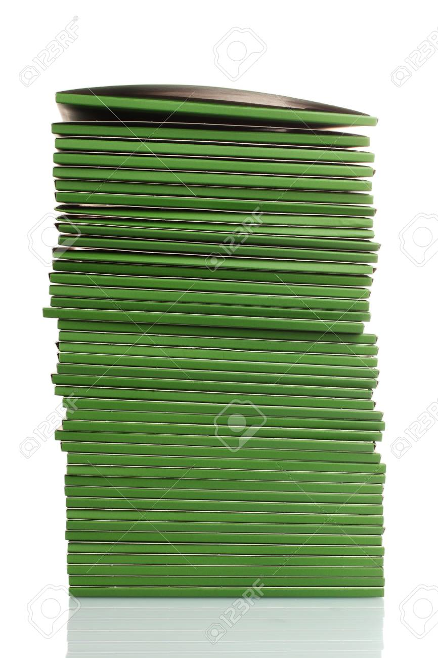 Many green folders isolated on white Stock Photo - 11492573