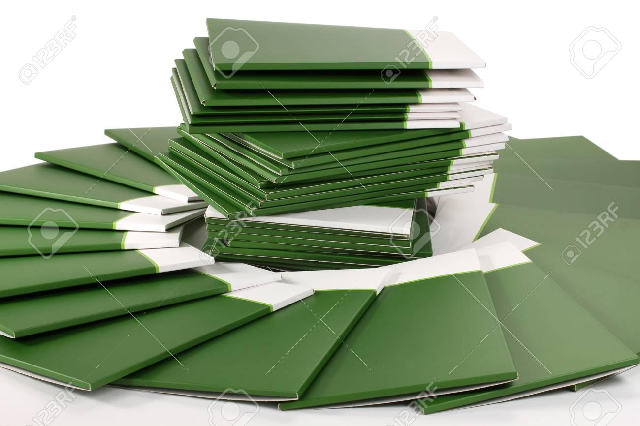Many green folders isolated on white Stock Photo - 12099584