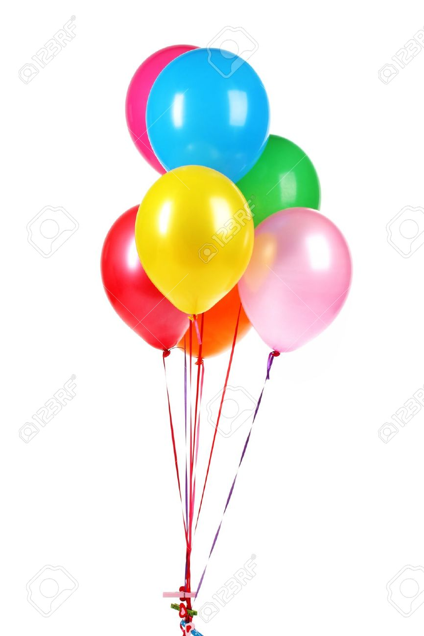 bright balloons isolated on white - 12097934