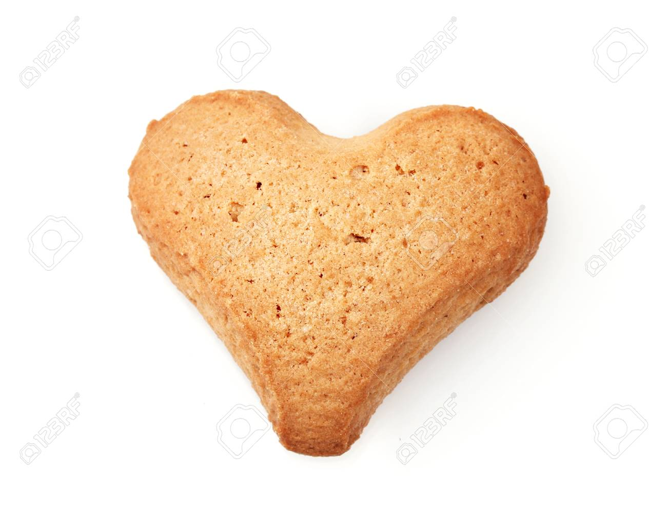 Heart-shaped cookie isolated on white Stock Photo - 12111499