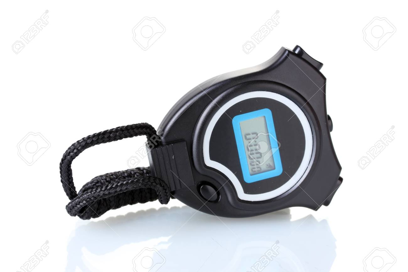 electronic sport timer isolated on white Stock Photo - 12649719
