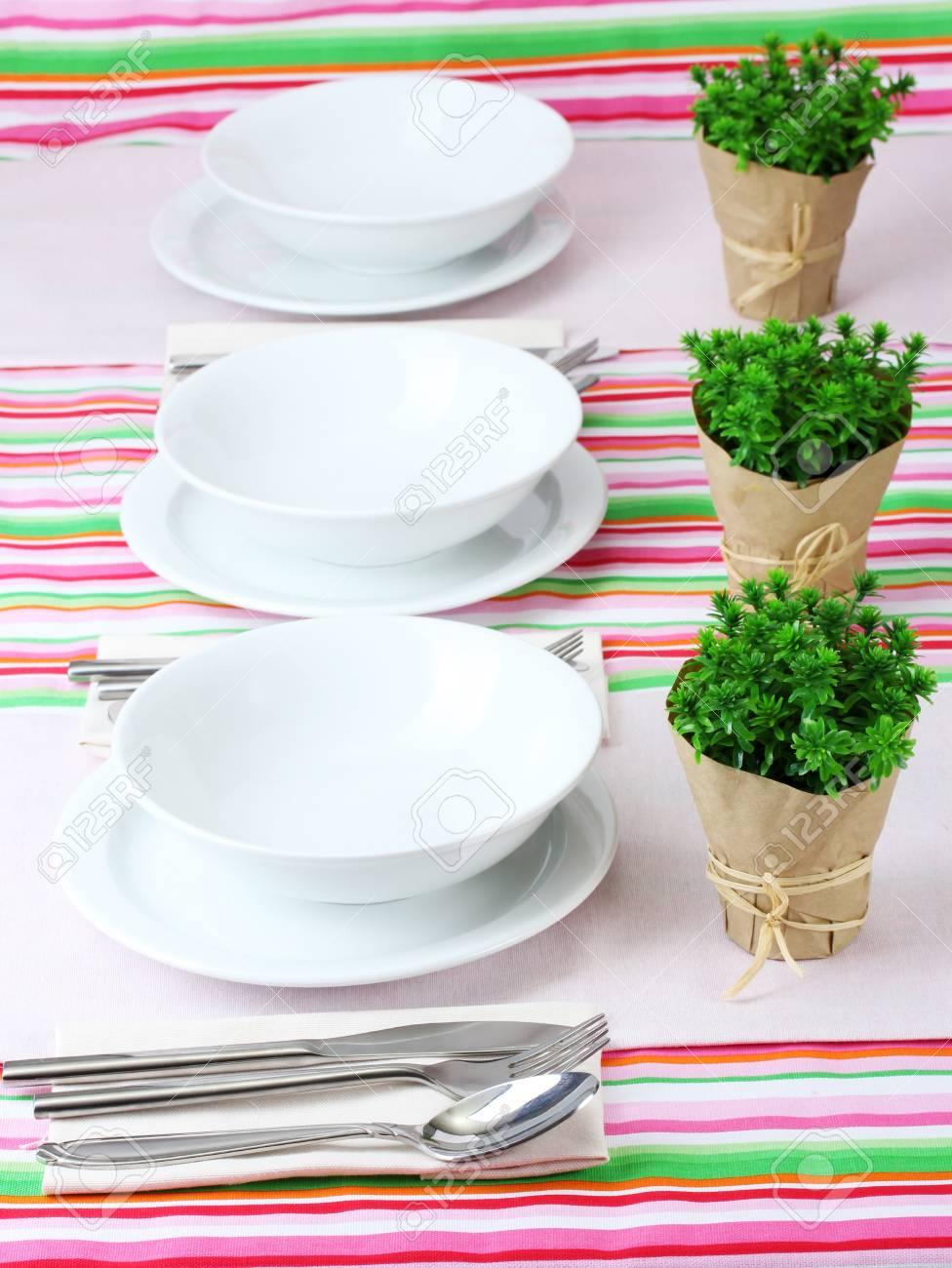 elegant holiday table setting Stock Photo - 12979521