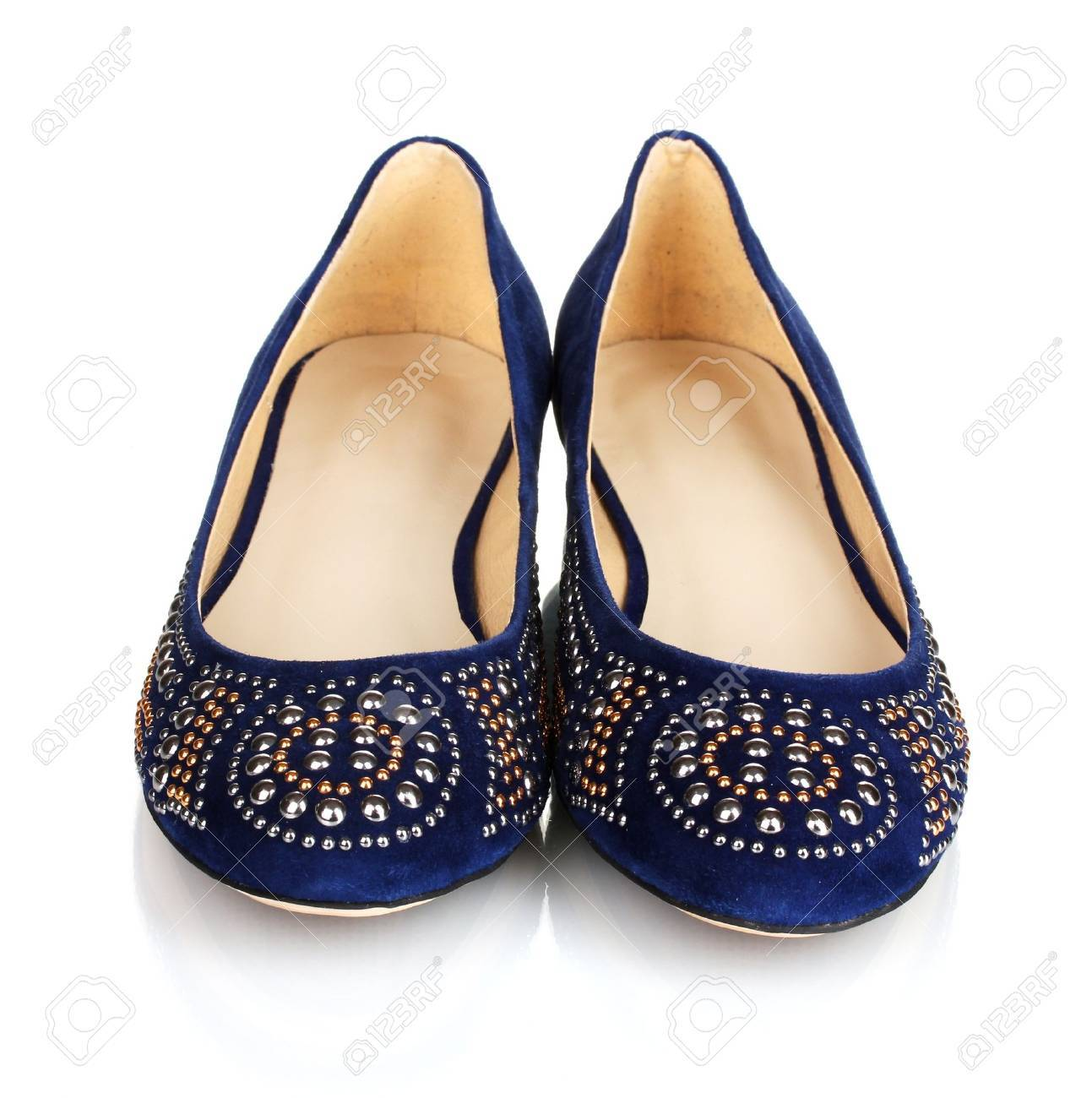 Suede Women's Blue Stiletto Heel Pointed Toe Pumps Heels Shoes