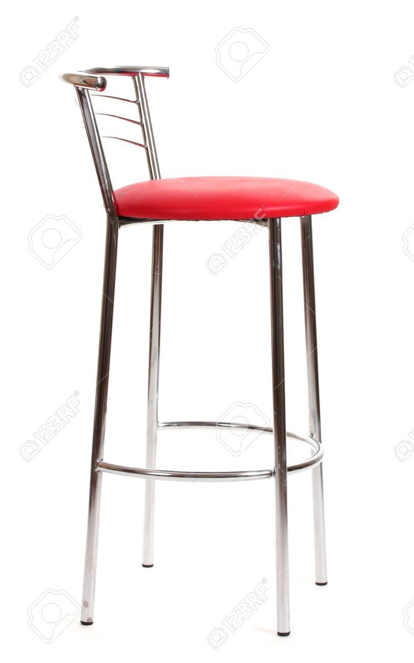 Chaise De Bar Rouge Isol Sur Blanc Banque DImages Et Photos Libres
