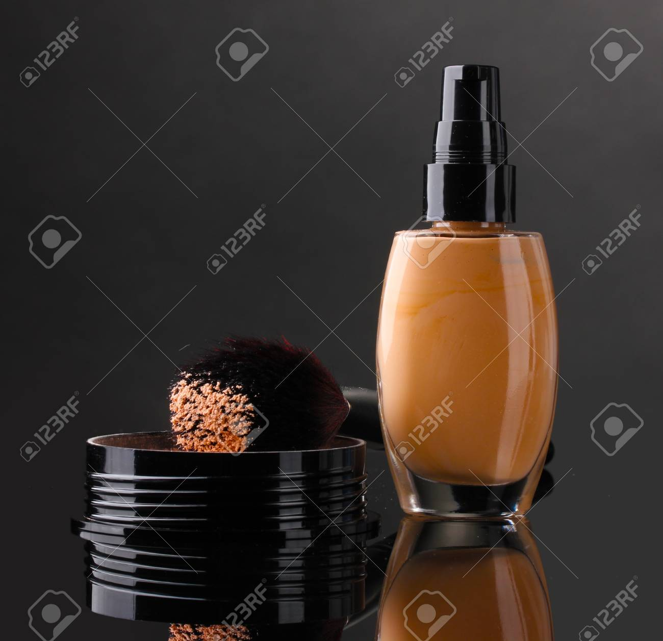 Сosmetics isolated on black Stock Photo - 13993916