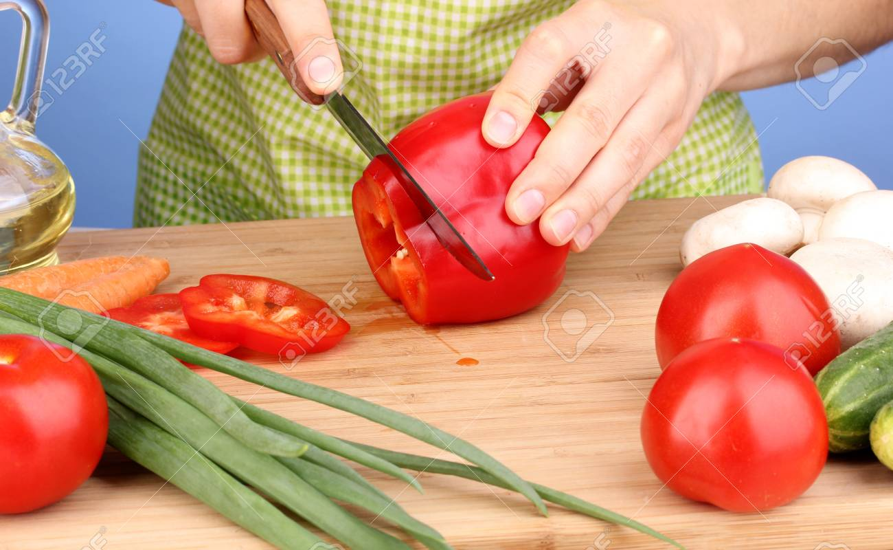 Chopping food ingredients Stock Photo - 14272835